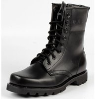 Wholesale military desert boots men army tactical shoes black round toe leather outdoor snow boot male adult classic ankle martin zipper boots for men