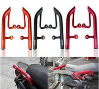 bar rail brackets - Motorcycle Tail Rear Seat Pillion Passenger Grab Rail Bar Handle Rack Bracket For BWS YW YW125 Four colors