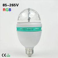Wholesale DHL LED Stage Light E27 W AC V RGB bulb light Auto Rotating Colors Change DJ Disco Club Party PUB KTV sing laser
