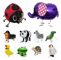 Wholesale Helium Walking Animal Balloons Aluminium Coating Pet Inflatable Balloons Irregular Multicolor Children Toys Gifts Party Birthday Decoration
