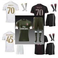 Wholesale DHL Mixed buy New AC Milan jersey kit socks BACCA home red away white BERTOLACCI MENEZ HONDA top quality AC Milan kit socks
