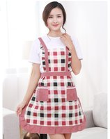 Wholesale 100pcs Apron Kit Bib Apron Flower Printing Sleeveless Cuff Waterproof Aprons Gowns For Men Women For Cleaning Cooking ZA0411