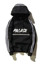 Wholesale Palace Hoodies for men sport Skateboards Sportswear Fleece Sweatshirt Mens suprem hoodie Palace Reflective Stripe hoodies sweatshirts