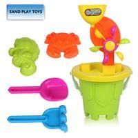 Wholesale New Arrival Children sand beach toys Sand Hourglass toys beach toys package children s beach barrel toys