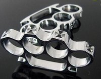 Wholesale new GILDED THICK THICK mm STEEL BRASS KNUCKLE DUSTER color Gold plating silver knuckle duster brass knuckle clutch knuckle knives self