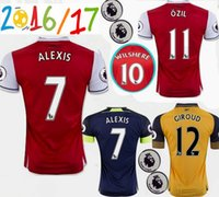 arsenal patch - TOP Thai Quality Arsenal MENS jerseyS OZIL WILSHERE RAMSEY ALEXIS Soccer rugby football shirt Free patch Free ship