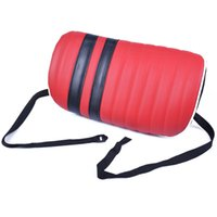 Wholesale AUTOYOUTH Car Seat Chair Back Lumbar Support PU Cushion Pad Red Black Colour Support Office Chair Car Seat Pad