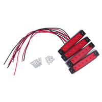 Wholesale 4PCS LED Car Truck Trailer Side Marker Indicators Lights Lamp V Red Hot Selling