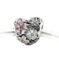 Wholesale Fit for Pandora Bracelets Bangles Authentic Sterling Silver Bead Charm Poetic Blooms