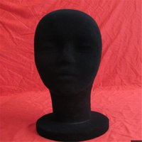 Wholesale Hot Sale Black Woman Foam Velvet MANNEQUIN Head Holder Base Display Wig Hat Glasses