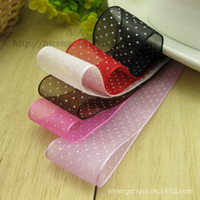 Wholesale Pinypon Printed Grosgrain Ribbon mm Printing Chiffon With Snow Yarn Polyester Ribbon Manual Hair Essential Material Supply