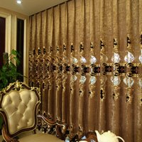 kitchen curtains - European style Window Curtains For Living Room Kitchen Bedroom Blackout Curtain Voile Cortina Para Quarto Embroidered