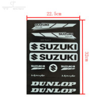 Wholesale 6pcs Decals Stickers pit dirt bike Racing Street Off Road motocross Cross motorcycle scooter ATV for Suzuki Motorcycle Car Decal