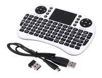Wholesale Wireless Keyboard rii i8 keyboards Fly Air Mouse Multi Media Remote Control Touchpad Handheld for TV BOX Android Mini PC