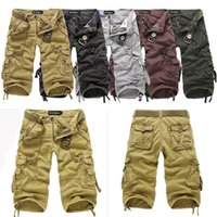Wholesale Men s Cotton Hobo Men Relaxed Fit Cargo Shorts Summer Cool Pants Shorts R53 smileseller2010