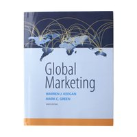 author marketing - Used Global Marketing th Edition th Edition by Warren J Keegan Author Mark C Green Author