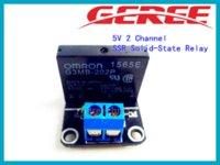 al por mayor canal de ssr-OMRON relé de 5V 1 Canal de estado sólido SSR Junta Módulo de relé 240V 2A para Arduino 10pcs / lot
