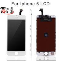 Apple numériseur France-10PCS / LOT pas de Pixel mort pour IPhone 6 4.7 écran LCD Touch Screen Digitizer Assemblée remplacement noir ou blanc