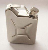 alcohol bottle design - Multifunction Portable oz Mini Oiler design Stainless Steel Hip Flask Alcohol Flagon Flasks Russian Whiskey Bottle For Pocket