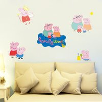 amusement park design - 10pcs Cartoon Movie Wall Decals Amusement Park DIY Mural Design for Kids child Bedroom Home Decor Cute Pink pig wall sticker