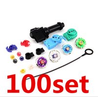 beyblade metal fusion grip launcher - 100PCS Free DHL New Fusion Top Metal Master Rapidity Fight Rare Beyblade D Launcher Grip Set