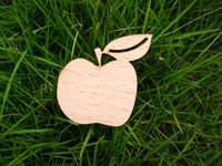 asian vegetables - vegetables apple with a leaf style wooden brooch
