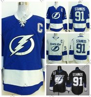 bay patch - 2016 Men s Tampa Bay Lightning Hockey Jerseys Steven Stamkos Jersey Blue White Black Steven Stamkos Stitched Jerseys C Patch