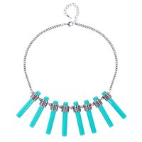 Wholesale Europe and America Hot Sales Fashion Vintage Necklace Bohemia Tassel Statement Necklaces Female Accessories Gift For Women
