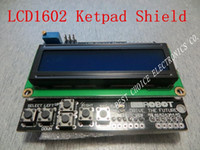 Wholesale shipping LCD Keypad Shield of the LCD1602 character LCD input and output expansion board For ARDUINO