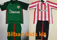 athletic shorts boys - 2016 Athletic Bilbao Soccer Jersey Child Athletic Club de Bilbao Camisetas Futbol DE MARCOS Red green Football Shirt kids kit uniform