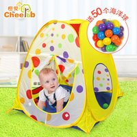 Wholesale Happy growth children s tent folding portable game room indoor outdoor children toy sea ball