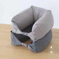 air pillows packaging - Japanese Muji wind type U air travel pillow neck pillow support cervical lumbar pillow package post office nap pillow