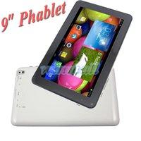 9 pouces phablet MTK6572 Dual Core GSM quadri-bande, téléphone Tablet PC Appel avec fente pour carte SIM Android 4.4 MID double caméra