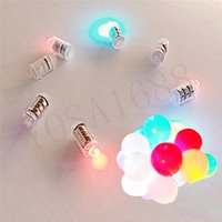 Wholesale Christmas Decorations White Led Balloon Lamp Ball Light for Paper Lantern Wedding Party Decoration Lights set