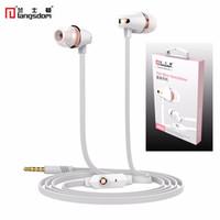 Wholesale Original Langston JM23 stereo earphones With Mic For Xiaomi Samsung iPhone Audifonos Fone De Ouvido Auriculares