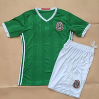 Wholesale DHL Thai B quality America Cup Soccer Jersey Mexico Green Chicharito Layun Jerseys Uniform Shirt and Short