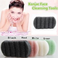 Wholesale New Natural Konjac Face Cleansing Tools Discharge Makeup Sponge Cleansing face Wash Undulating rectangle Makeup Tools Wash Facial Puff