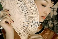 Wholesale New arrival Hot sale Bridal Hand Fans Hollow Out Wood Fans Handmade Folding Fans Wedding Accessories