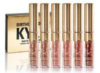 Wholesale mini set Gold Kylie Jenner Birthday Edition Lip Kit Matte Liquid Lipsticks Lipstick Lip Kits Gloss Cosmetics Leo Lipgloss in stock