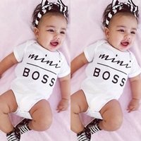 baby mini romper - casual baby girl jumpsuits Newborn Infant children Boys Girls Bodysuit mini boss letter print Romper Outfits Sunsuit Clothes