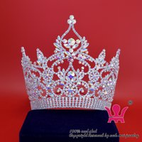 accessories missing - Rhinestone Crowns Tiaras Lager Miss Beauty Pageant Bridal Wedding Queen Princess Party Prom Night Clup Accessories Show Headdress Mo008