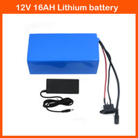 Rechargeable   High quality 120W 12V 16AH Lithium battery electric tool with 12.6V 2A Charger for LED Light   CCTV Camera