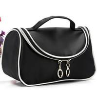 Wholesale Brand M Cosmetic Bag Shapes Zipper Nylon Professional Makeup Bags Cosmetic Handbags Black Color Size cm cm cm Cheap Price