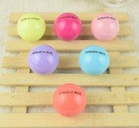 Wholesale Ball Lip Balm Makeup Round Ball Moisturizing lip balm Fruit lip Care Lipstick Balm Plant Makeup Moisturizing Lip Balm color KKA300