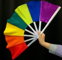 Wholesale Delux colorful Pro Broken and Restored Fan Trick paper mache mask magic tricks fire props dice magic comedy
