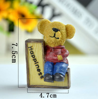 bear font - Best family gift Decorative furnishing articles LOVE the bear family resin figurines home craft A family of four bear