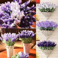 Wholesale Artificial Flowers Silk Flowers Fake Artificial Lavender Silk Flower Bouquet Party Wedding Home Decorate Flowers Artificial