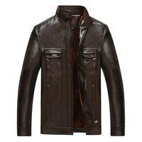 Wholesale Fall New Arrivals Autumn Brand Leather Jacket Men Jaqueta Couro Masculino Bomber Leather Jacket Coat Motorcycle Jacket