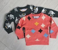 baby horse jumper - 2017 New Bobo Choses Kids Sweater Cloud Horse Triangle Pattern Jumper For Boys Girls Baby Fall Sweaters Clothing Autumn Winter CW0013