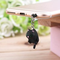 Cheap In Stock! Newest Cute Cat Hanging 3.5mm Anti Dust Earphone Jack Plug Stopper Cap For Phone